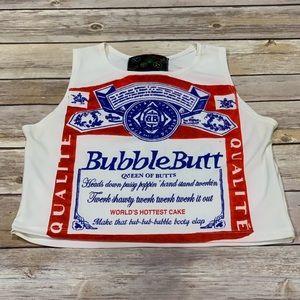Beer Budweiser novelty tank crop top